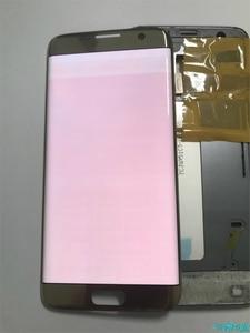 Image 4 - Orijinal süper AMOLED Samsung S7 kenar G935F G935fd Burn in gölge Lcd ekran dokunmatik ekran Digitizer çerçeve ile 5.5