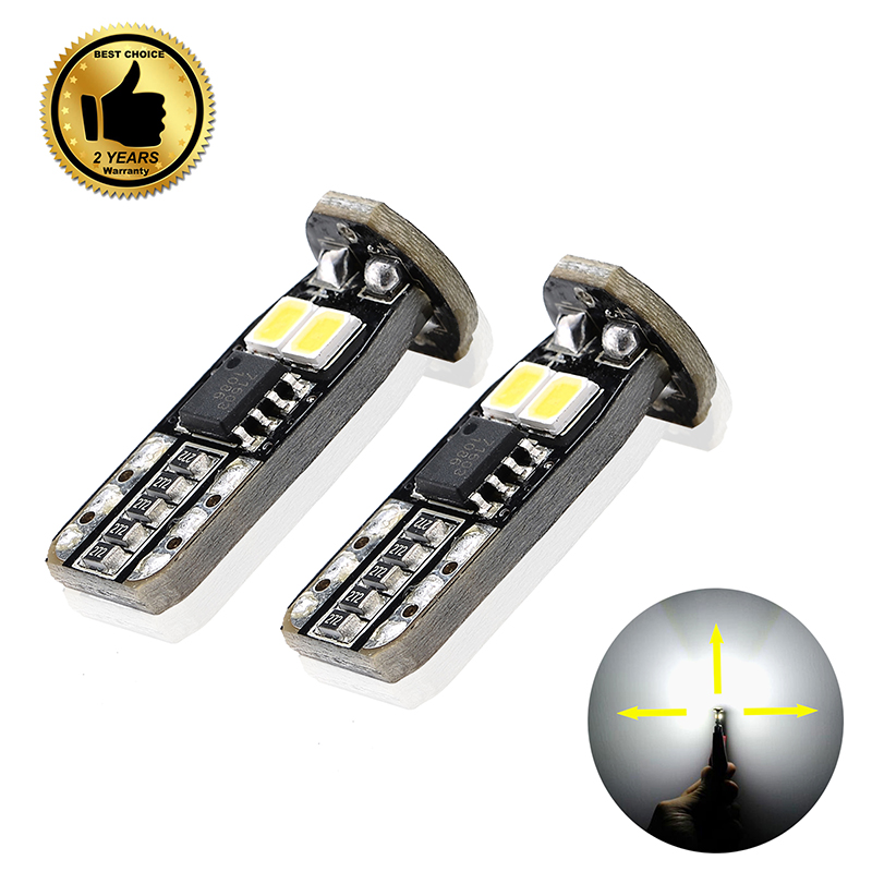 4PCS White T10 w5w 168 194 LED Car Styling Light Wedge Replacement Bulbs Car Dome Map Door Courtesy License Plate Lights