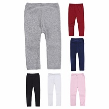 Осенне-зимние штаны для маленьких девочек; теплые хлопковые леггинсы в рубчик; обтягивающие штаны в полоску для маленьких детей; штаны в рубчик для От 2 до 6 лет