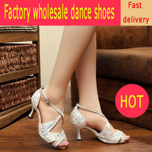 Gril Salsa Dance Shoes Leather Latin Dancing Sneakers Social Jazz Shoe Flesh white Fitness Breathable For Female Coupons 6119
