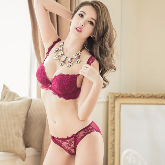 56c538a3d Lady Charming Lingerie Lace Bra Suit Bra   Panty Sets Women Hot Underwear  Best