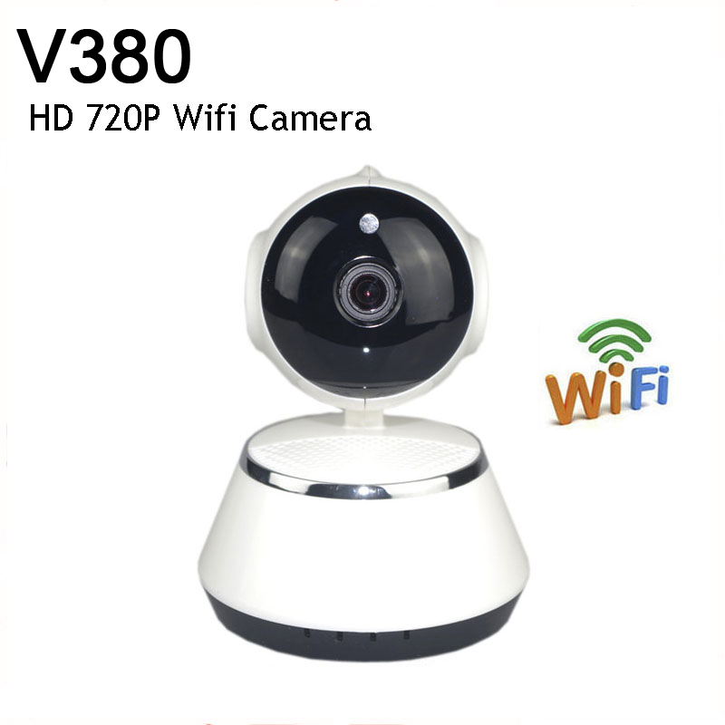 V380 HD 720P Mini IP Camera Wifi Camera Wireless P2P Security Surveillance Camera Night Vision IR Robot Baby Monitor Support 64G wanscam hw0026 mini smart wireless 1mp hd 720p ip camera wifi security surveillance p2p baby monitor 2 way audio ir night vision