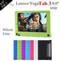 2016 nova Yoga Tab 3 8.0 caixa do silicone macio para Lenovo Yoga Tablet 3 850F Tablet Case capa