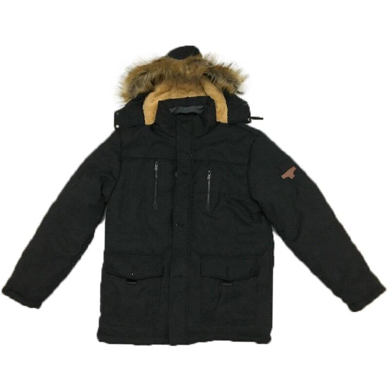 KOSMO MASA 2018 coton à capuche veste d'hiver hommes chaud 6XL longue Parka à capuche vestes homme manteaux décontracté fourrure vers le bas Parkas hommes MP012 - 5