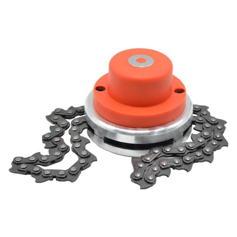Césped cadena cabeza de cadena desbrozadora para jardín hierba cortador de cepillo piezas de recambio para recortador de herramientas de jardín partes