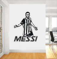 Messi Cool Wall Stickers Service Soccer Player Barcelona Wall Decal Morden Design Shopping Boy Bedroom Aplicable