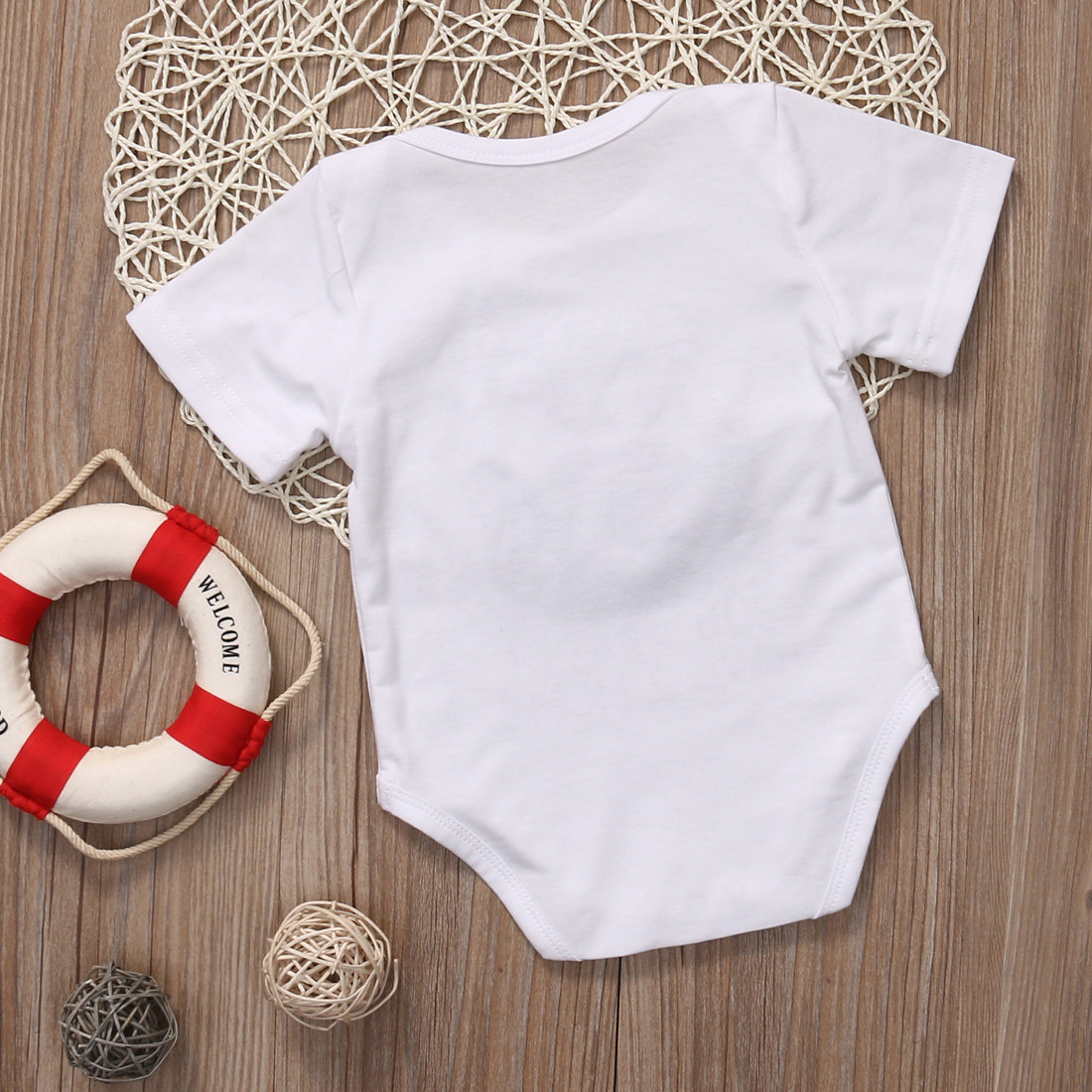 0b3640b5a Funny Cotton Clothes Newborn Baby Girls Boys Printed Short Sleeves ...