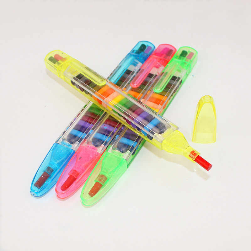 Bambini di Pittura Giocattoli 20 Colori Pastello di Cera Del Bambino Divertente Creativo Montessori Pastelli Ad Olio Per Bambini Graffiti Strumenti di Giocattoli Per I Bambini