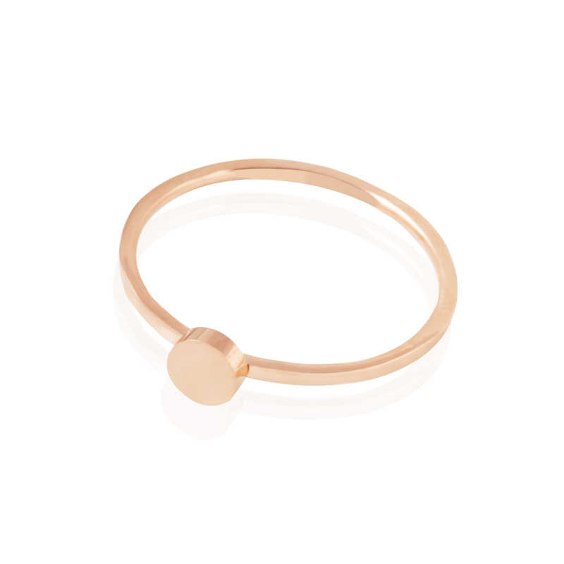 ZMZY 1 มม. วงกลมบาง Minimalist สแตนเลสหมั้นแหวนนิ้วมือเครื่องประดับ Stackable แหวนสำหรับของขวัญผู้หญิง