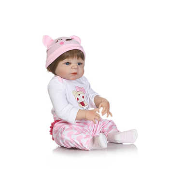 NPKCOLLECTION Full Body Silicone Reborn Girl Baby Doll Toy Lifelike Princess Doll Babies Doll Birthday Gift Bathe KidsToy