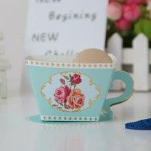 Καλύτερα κουτιά καραμελών 10 καπνών Τσάι κόμματος ευνοεί τα γαμήλια δώρα για τους επισκέπτες Νυφική ντους γενεθλίων Party Candy Box εύνοιες Κύπελλο διακόσμησης