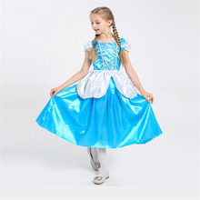 Deluxe Girl Cinderella Maid Costume Halloween Kids Princess Cosplay Clothing Children Dress