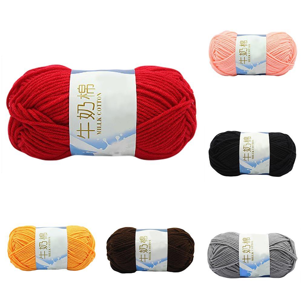 50g Yarn For Knitting Wool Yarn Crochet Soft Yarns Crochet Sweater Scarf Milk Cotton Yarn For Hand Kitting  DIY Sewing Tools