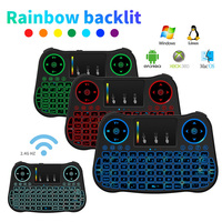 Backlight Wireless Mini Keyboard 2 4G Air Mouse Multi Color Backlit Remote Control For Android TV
