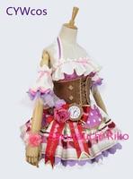 Люблю жить солнце Aqours День Святого Валентина Рико Sakurauchi шоколад горничной Косплэй костюм Лолита Для женщин горничной униформы платье