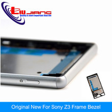 Liujiang Original Frame middle bezel cover For Sony Xperia Z3 D6603 D6643 Housing chassis frame