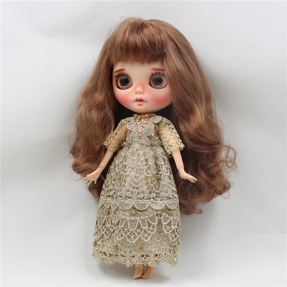Neo Blythe Doll Golden Noble Dress 1