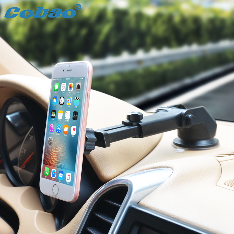 Cobao Car Phone Holder magnético de 360 grados coche móvil titular para iPhone 5 6 7 Samsung Magnet Dashboard soporte soporte