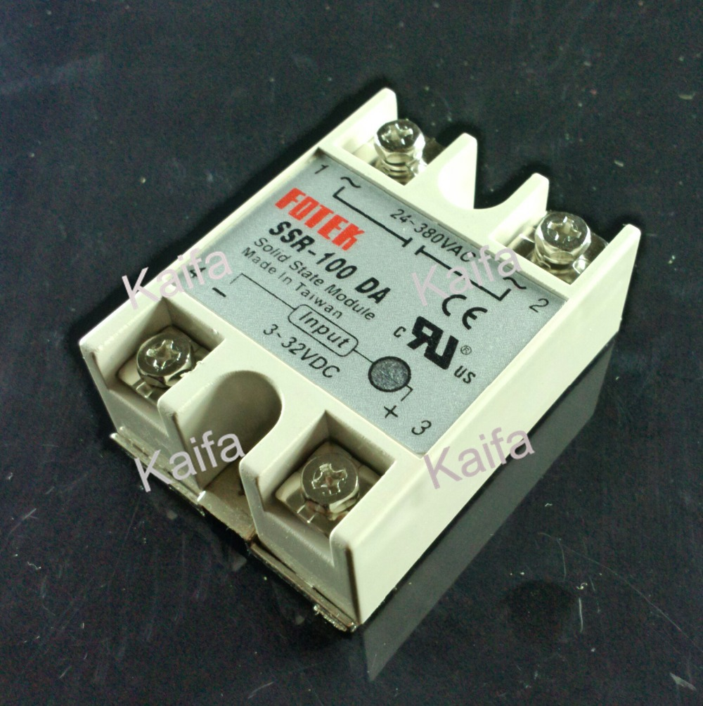 Industrial   Solid State Relay SSR 100A with Protective Flag SSR-100DA 100A DC control AC normally open single phase solid state relay ssr mgr 1 d48120 120a control dc ac 24 480v