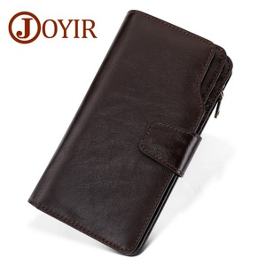 Image 2 - JOYIR Luxury Brand Business Men Wallets Genuine Leather Man Handy Bag High Capacity Long Wallet for Mens 2018 New Clutch Wallets