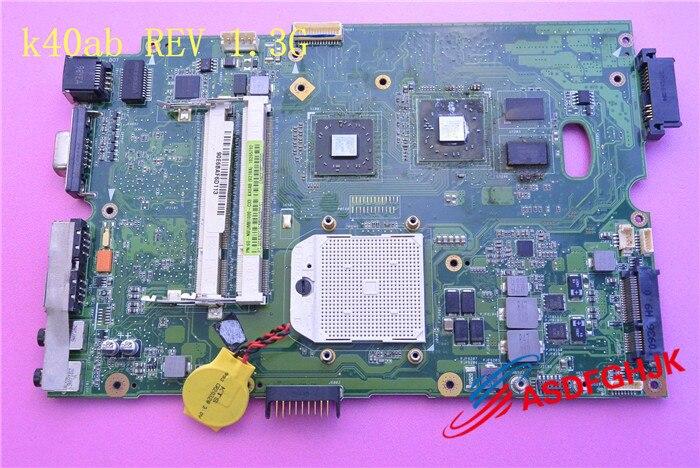 Original K40AB Laptop motherboard FOR ASUS K40AB K40AD K40AF K50AB K50AD K50AF K40IJ K5IJ K40 K50 Fully tested k40ae for asus k40af k40ab x8aaf k40ad k50ad k50af laptop motherboard motherboard improved low temperature version tested