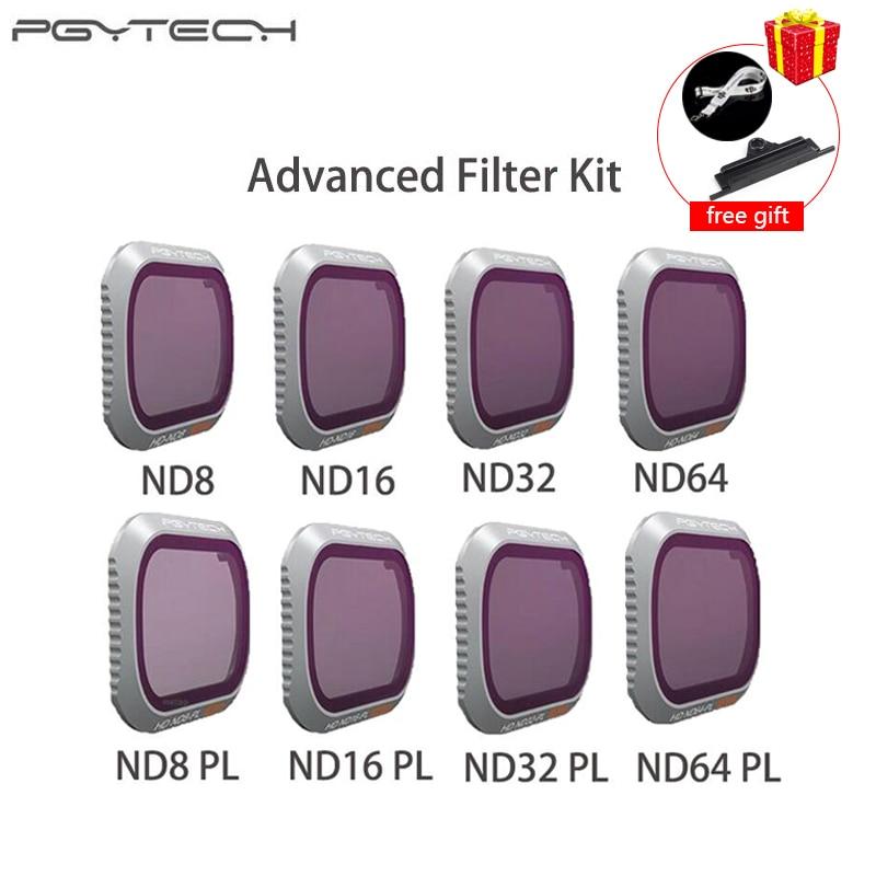PGYTECH DJI Mavic 2 Pro Erweiterte Filter ND8/16/32/64-PL ND8/16/32/ 64 kamera Objektiv Kit Set für DJI Mavic 2 pro Filter Drone
