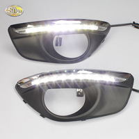 SNCN LED Daytime Runnning Lights For Hyundai Santa Fe 2010 2012 DRL 12V ABS Fog Lamp