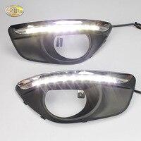 SNCN LED Daytime Runnning Lights For Hyundai Santa Fe 2010 2012 DRL 12V ABS Fog Lamp
