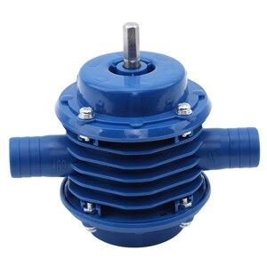 Image 3 - Bomba centrífuga autocebante azul de CC bomba centrífuga autocebante pequeña bomba de agua de taladro eléctrico manual de bombeo