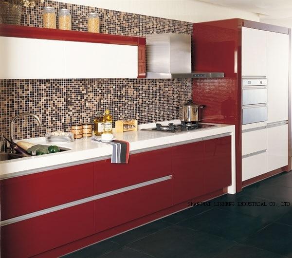 Lacquer Kitchen cabinet(LH-LA018)