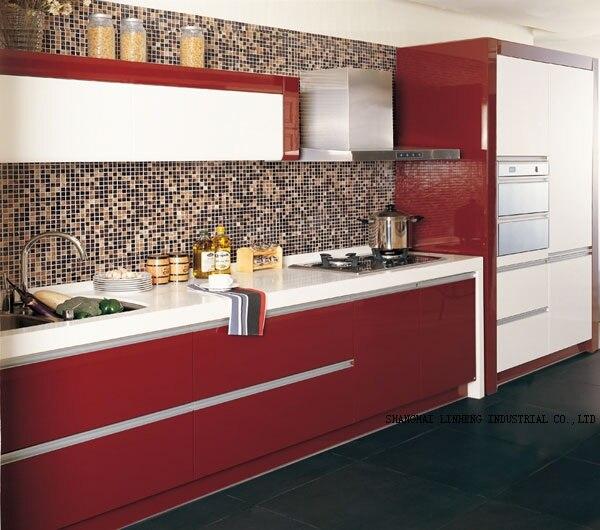 Laque armoires De Cuisine (LH-LA018)