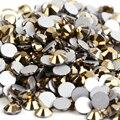 SS30 Hematite color Oro 288 unids Hotfix Rhinestones no 6.3-6.5mm 20ss crystal Nail Art Piedras flatback