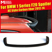 AC Style Roof Spoiler Tail For BMW 1 Series F20 118i 120i 125i 130i 135i Carbon Rear Trunk Wing car styling 2012-14