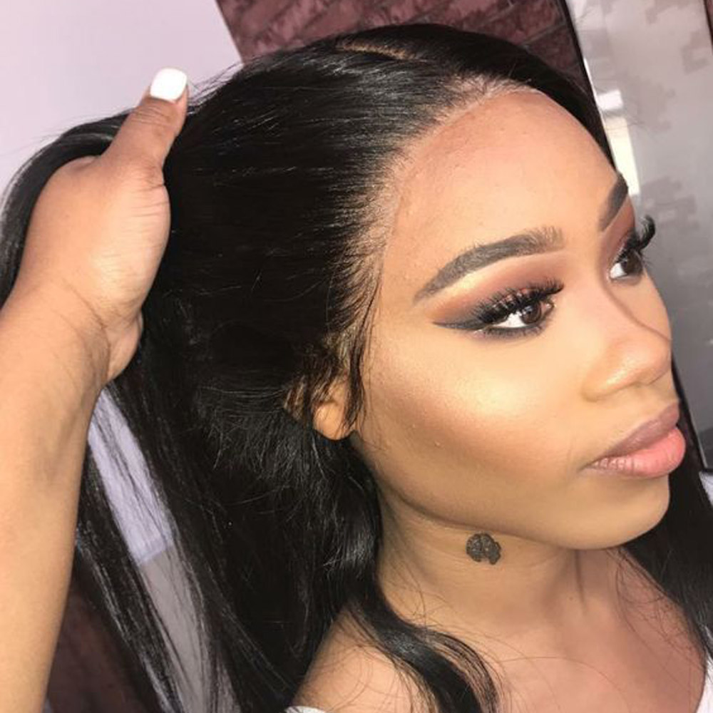 Beaudiva Straight Hair Lace Front Human Hair Wigs For Black Women With Baby Hair Brazilian RemyHair