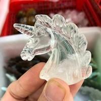 2 clear quartz crystal unicorn natural stones and crystals natural crystal unicorn hand craft