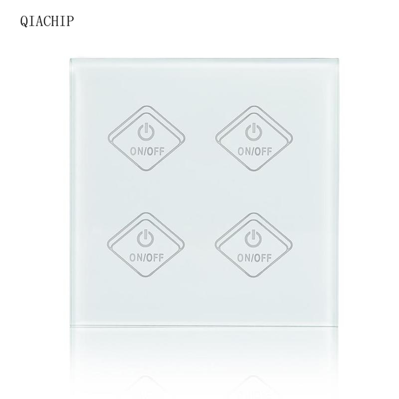 4 Gang WiFi Smart Switch Light Wall Touch Switch APP Remote Control Work with Amazon Alexa Google Home Supported Timing Z1