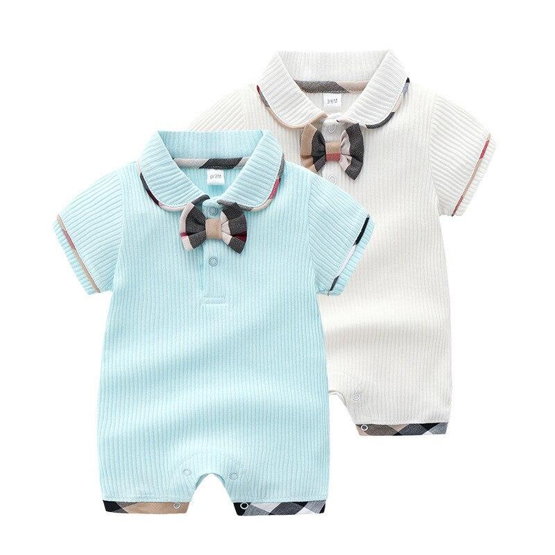 Short Sleeve Newborn Baby Boy   Rompers   Fashion Summer Style Toddler Kids Jumpsuits Infantil Bebes Overalls Children Costumes 0-2T