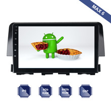 Android 9.0 Autoradio 2 Din GPS Navi per Honda CIVIC 10 2015 2016 2017 2018 PX6 DSP 2.5D IPS schermo 4Gb + 64Gb HDMI RDS WIFI BT(China)