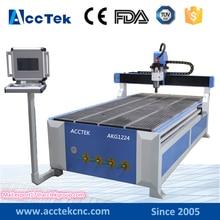 Jinan Acctek new design 1224 cnc machine milling wood , cnc wood carving machine with industry computer