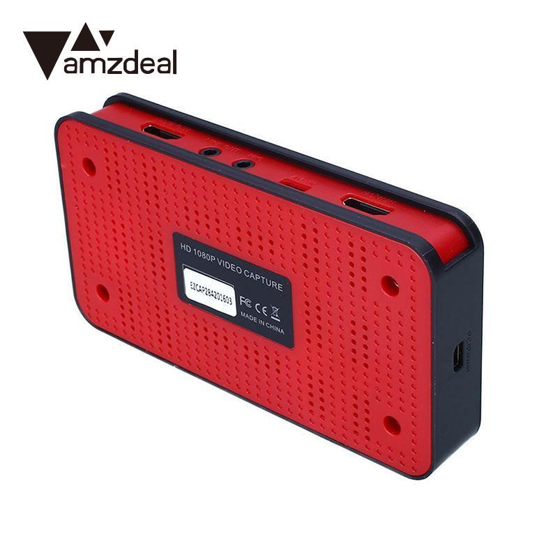 amzdeal USB HDMI YPBPR 1080P Input HD Game Capture Grabber Recorder Box for EZCAP 284 Black US Plug