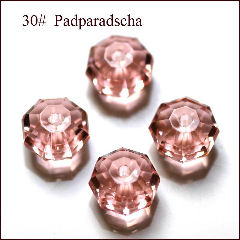 50fa 100 pçs/saco 4 x 6 mm 6 x 8 mm 8 x 10 mm cristal redonda de cristal Rondelles contas fazer jóias de acessórios