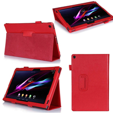 цена на For sony xperia z2 tablet case Folio PU Leather Cover for sony xperia tablet z 2 z2 10.1 inch with stand Tablet High quality!