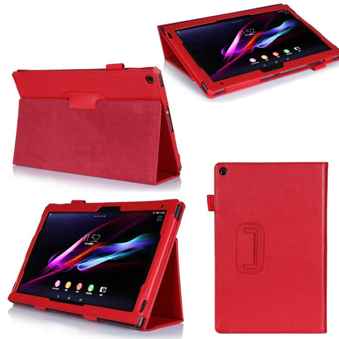 For Sony Xperia Z2 Tablet Case Folio PU Leather Cover For Sony Xperia Tablet Z 2