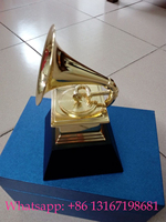 2018 THE 60 TH GRAMMYS Awards Gramophone Metal Trophy by NARAS 18.5cm Height Nice Gift Souvenir Collection And Free Shipping