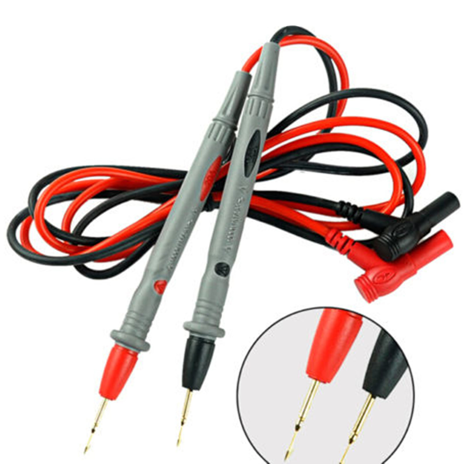 1 Pair Multi Meter Tester Lead Probe Pin For Digital Multimeter Needle Tip Meter Wire Pen Cable 10A elecall a 18 j pvc needle tip probe test leads pin hot universal digital multimeter multi meter tester lead probe wire pen cable