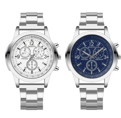Mens Watches Top Brand Luxury Business Sports watch Stainless Steel Quartz Analog Hour Three Eyes Wrist Watch Relogio Masculino