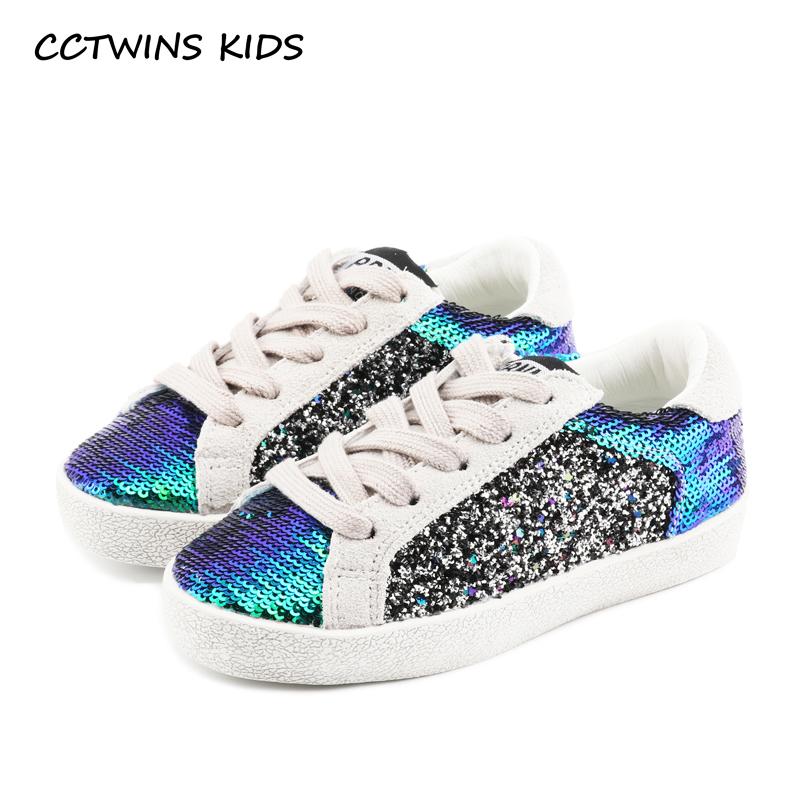 купить CCTWINS KIDS 2018 Autumn Fashion Children Sequin Sneakers Baby Boy Genuine Leather Casual Sneaker Kid Girl Shoe Trainer FC2340 по цене 1636.14 рублей