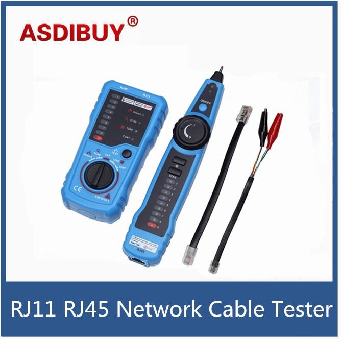 RJ11 RJ45 Cat5 Cat6 Telephone Wire Tracker Tracer Toner Ethernet LAN Network Cable Tester Detector Line Finder  цены