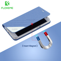 Original LOGO Luxury PU Leather Cover For Apple IPhone 6 4 7 Screen Magnetic Flip Seat