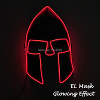 2018 New Style EL Wire Mask LED Novelty Lighting Spartan warrior mask For Cosplay Party Halloween Decoration powered by DC 3V